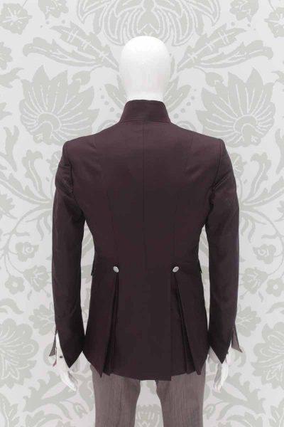 Giacca abito da sposo fashion bordeaux made in Italy 100% by Cleofe Finati