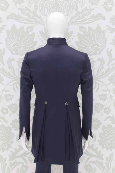 Classic serenity powdery blue wedding suit jacket 100% made in Italy by Cleofe Finati