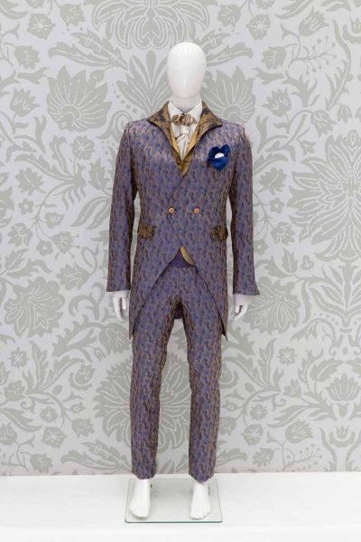 Blue gold made in Italy men's glamour suit jacket 100% by Cleofe Finati