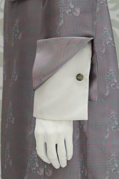 Giacca abito da uomo glamour lusso rosa salvia made in Italy 100% by Cleofe Finati