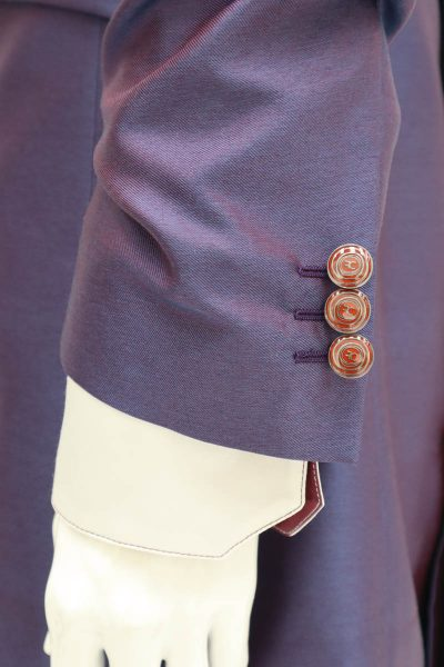 Giacca abito da uomo glamour lusso blu bordeaux made in Italy 100% by Cleofe Finati
