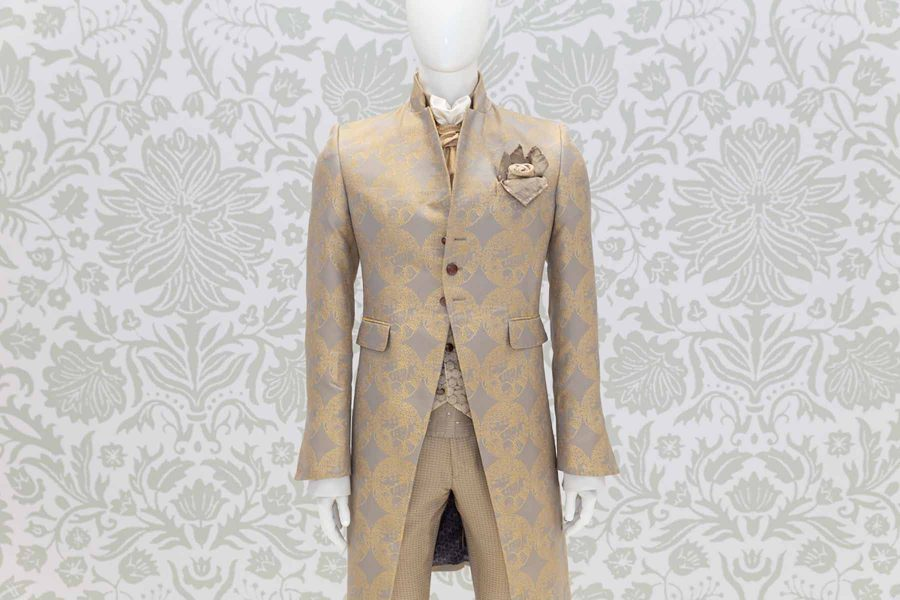 Glamorous men's suit jacket gold 100% made in Italy by Cleofe Finati