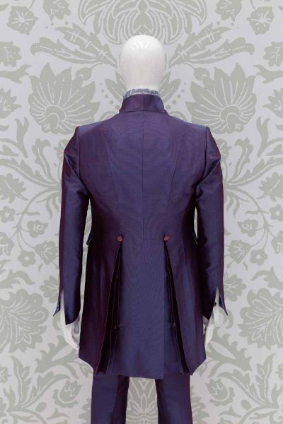 Glamorous luxury blue purple men's suit jacket 100% made in Italy by Cleofe Finati