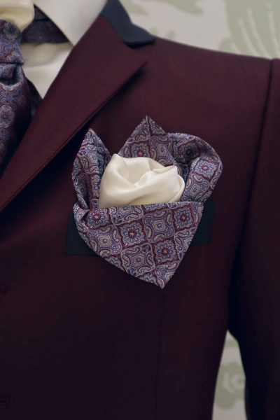 Giacca abito da sposo fashion bordeaux blu made in Italy 100% by Cleofe Finati