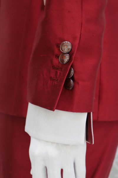 Giacca abito da uomo glamour lusso rosso made in Italy 100% by Cleofe Finati