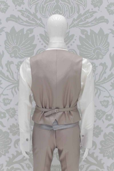 Waistcoat vest sand light blue fashion havana wedding suit 100% made in Italy by Cleofe Finati