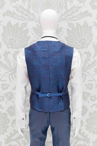 Waistcoat vest serenity blue classic wedding suit sky blue 100% made in Italy by Cleofe Finati