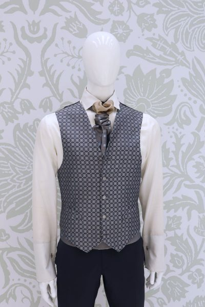 Waistcoat vest night blue fashion wedding suit navy blue 100% made in Italy by Cleofe Finati