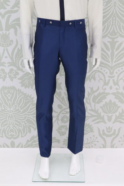 Classic dusty serenity blue wedding suit trousers 100% made in Italy by Cleofe Finati