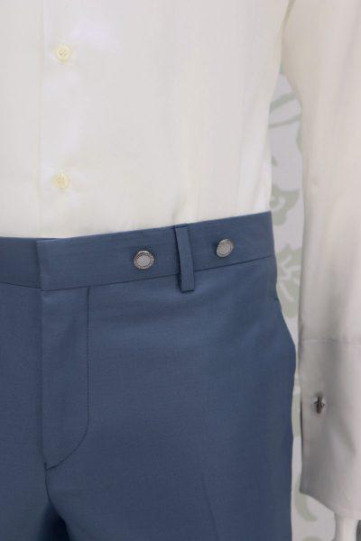 Pantalone abito da sposo fashion azzurro serenity made in Italy 100% by Cleofe Finati