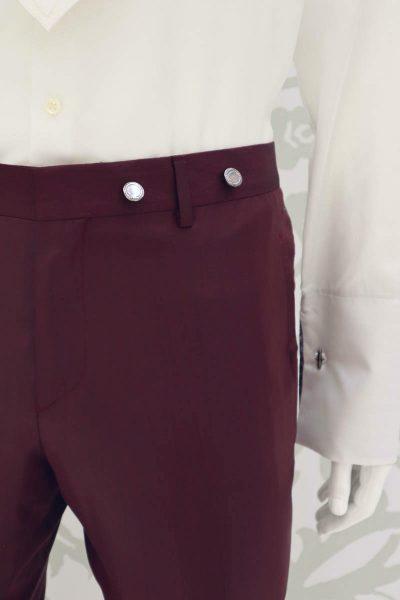 Pantalone abito da sposo fashion bordeaux blu made in Italy 100% by Cleofe Finati