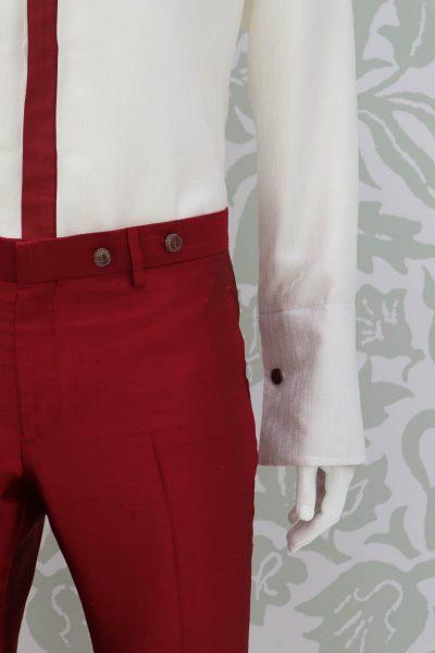 Pantalone abito da uomo glamour rosso made in Italy 100% by Cleofe Finati