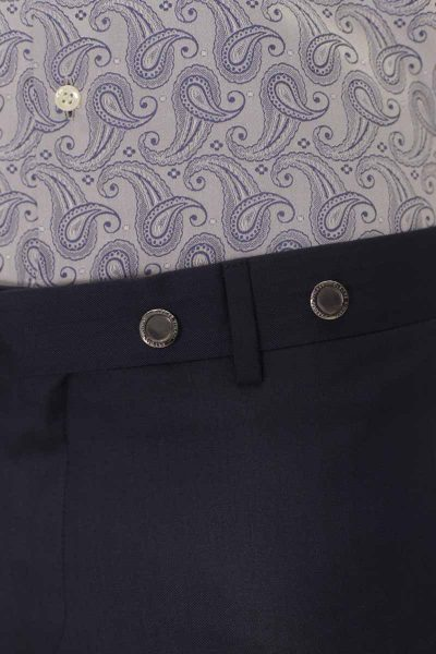 Classic navy blue wedding suit trousers 100% made in Italy by Cleofe Finati