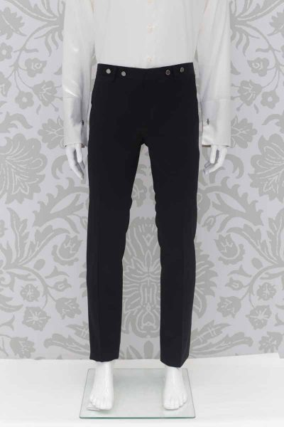Tail coat wedding suit black trousers 100% made in Italy by Cleofe Finati