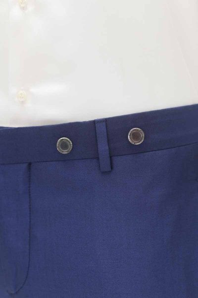 Deep blue wedding suit trousers 100% made in Italy by Cleofe Finati