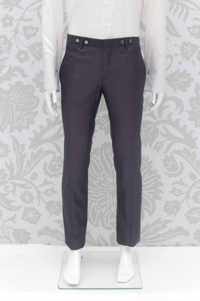 Cloud grey fashion wedding suit trousers 100% made in Italy by Cleofe Finati