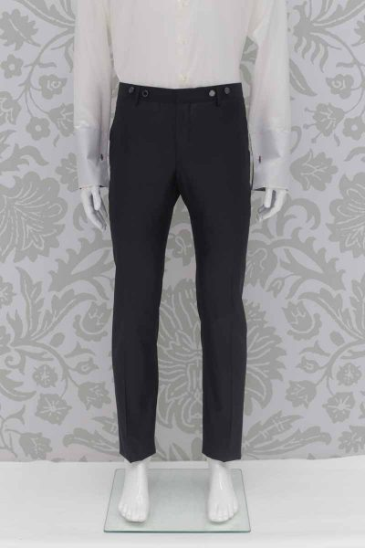 Grey fashion wedding suit trousers 100% made in Italy by Cleofe Finati