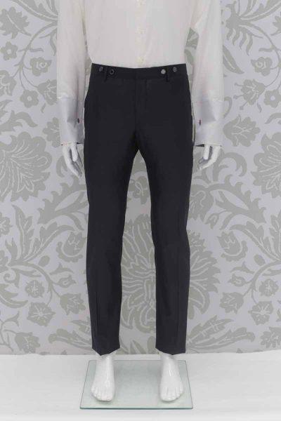 Pantalone abito da sposo fashion grigio made in Italy 100% by Cleofe Finati