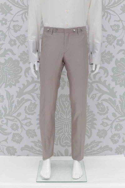 Pantalone abito da sposo fashion havana made in Italy 100% by Cleofe Finati