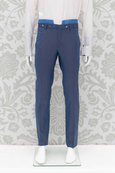 Sky blue classic wedding suit 100% made in Italy by Cleofe Finati
