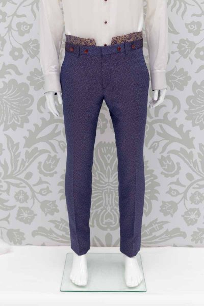 Navy blue luxury glamour men's suit 100% made in Italy by Cleofe Finati