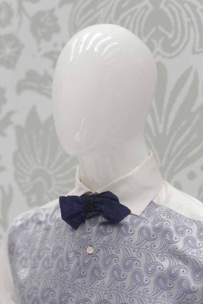 Papillon dandy double blu nero abito da sposo classico blu nero made in Italy 100% by Cleofe Finati