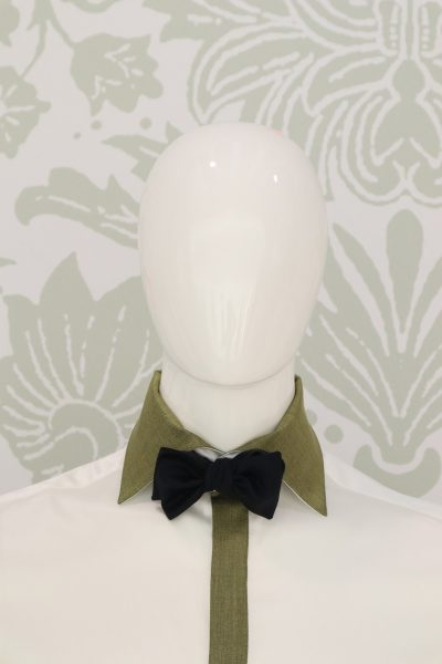 Litis man hat fashion black wedding suit 100% made in Italy by Cleofe Finati