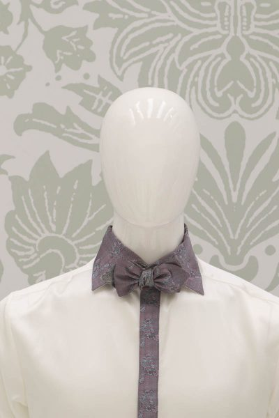 Papillon dandy rosa, salvia e avorio abito da uomo glamour rosa salvia made in Italy 100% by Cleofe Finati
