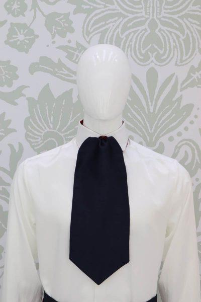 Plastron dandy abito da uomo glamour bordeaux blu made in Italy 100% by Cleofe Finati