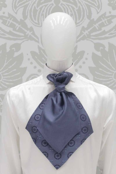 Ascot metal blue classic wedding suit midnight blue 100% made in Italy by Cleofe Finati