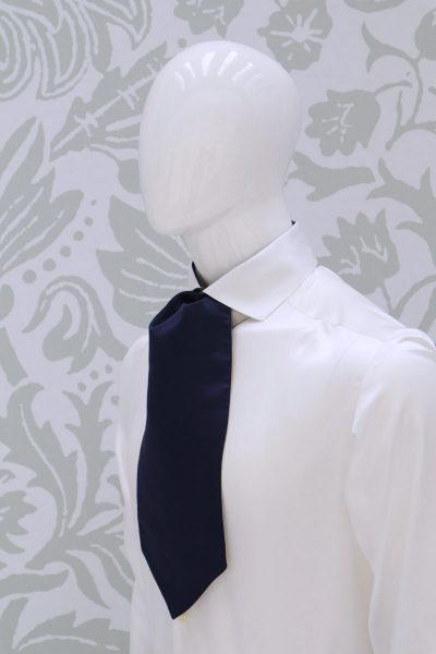 Dandy double bow tie dusty blue wedding suit lightning blue 100% made in Italy by Cleofe Finati