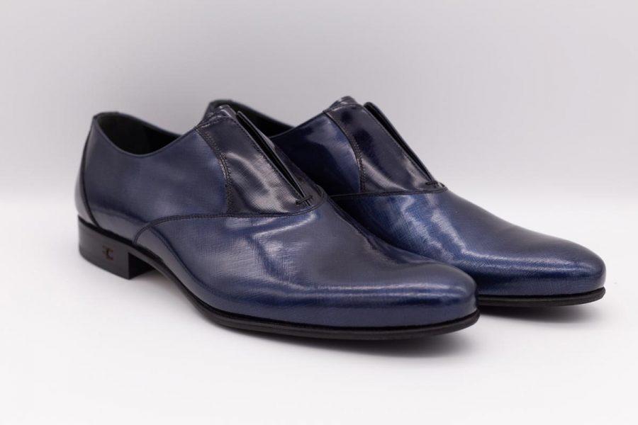 Scarpe pantofole blu navy abito da sposo fashion azzurro cielo made in Italy 100% by Cleofe Finati