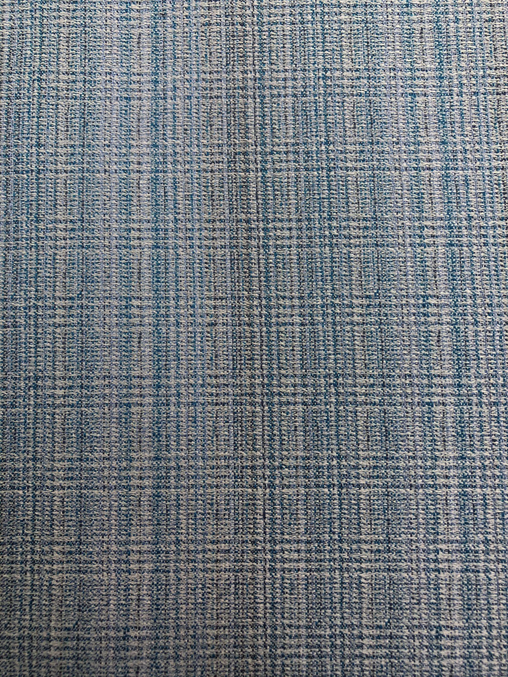 JACQUARD SILK ON BLUE, BLUE, WHITE AND BLACK SHADES