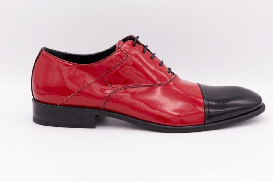 Scarpe stringate rosso e nero abito da uomo glamour blu grigio made in Italy 100% by Cleofe Finati