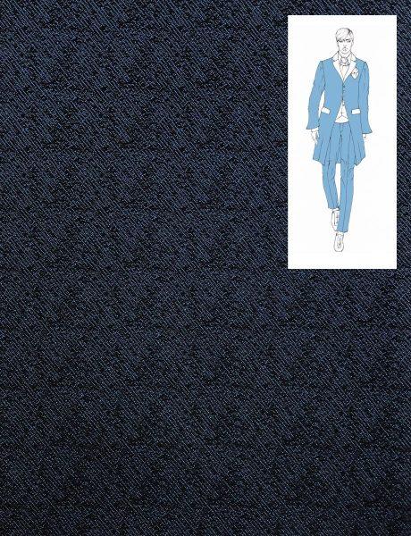 BLACK BLUE SILK