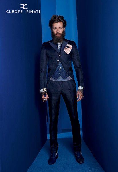 Scarpe stringate blu notte abito da uomo glamour blu notte made in Italy 100% by Cleofe Finati