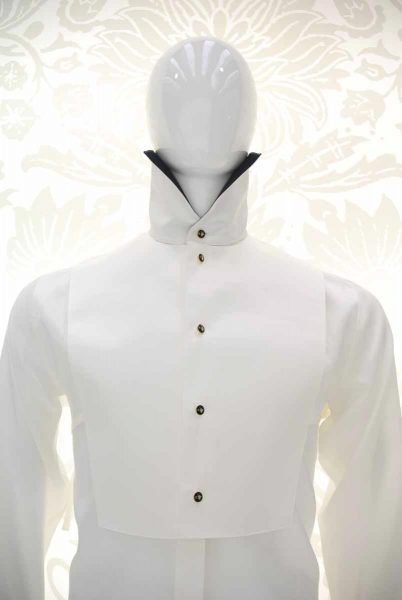 Cream shirt glamour men's suit silver white and black 100% made in Italy by Cleofe Finati