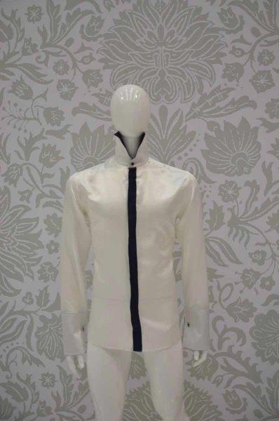 Camicia panna abito da uomo glamour blu notte made in Italy 100% by Cleofe Finati
