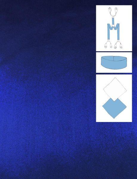 NIGHT BLUE SILK SATIN