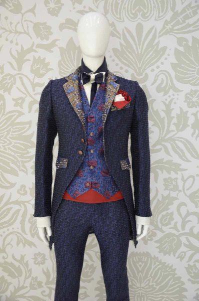 Giacca abito da uomo glamour blu notte made in Italy 100% by Cleofe Finati