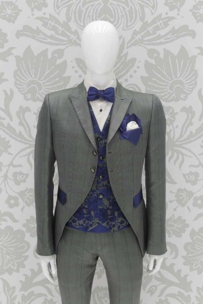 Waistcoat vest glamour men's suit grey green blue 100% made in Italy by Cleofe Finati