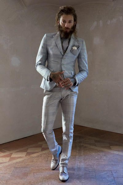 Waistcoat vest glamour men's suit light blue sand 100% made in Italy by Cleofe Finati