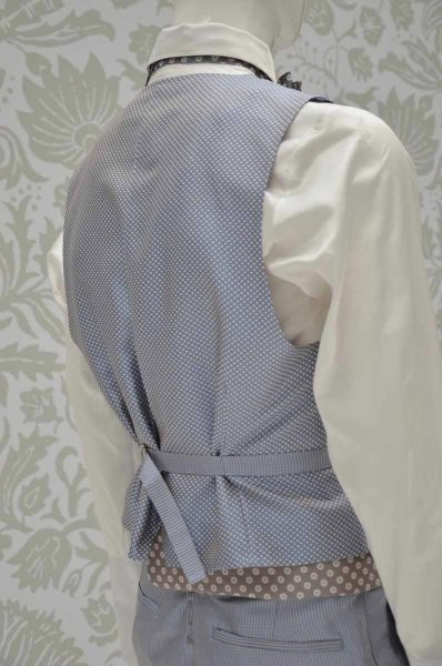 Waistcoat vest glamour men's suit white and sand 100% made in Italy by Cleofe Finati