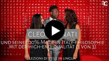 Wer ist Cleofe Finati und seine 100% Made in Italy-Philosophie mit der High-End-Qualität | #61 1 von 3 3-sprachiges Styltraining