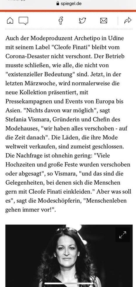 intervista-stefania-vismara-der-spiegel-magazine-coronavirus