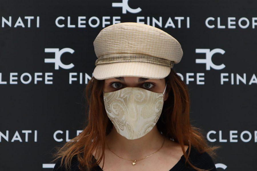 Cowslip silk mask by Cleofe Finati