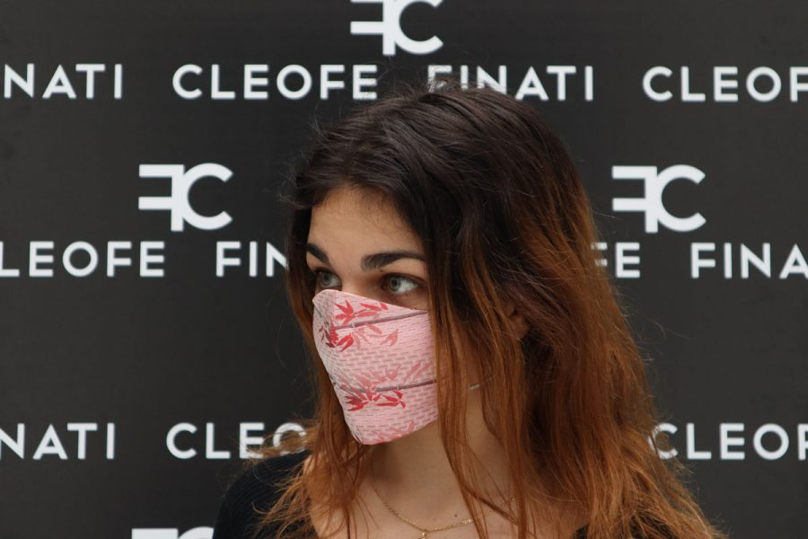 Dasy silk mask by Cleofe Finati