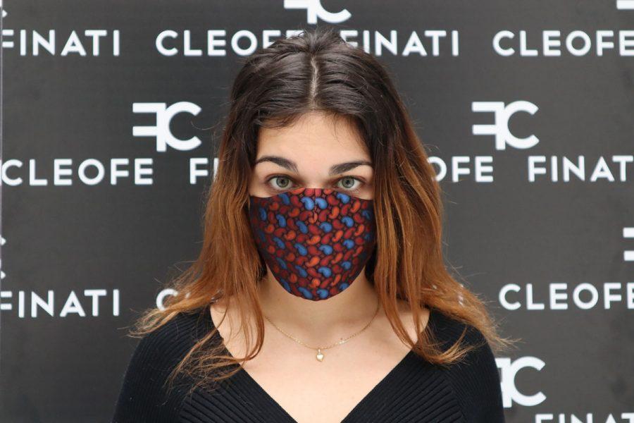 Snowdrop silk mask by Cleofe Finati
