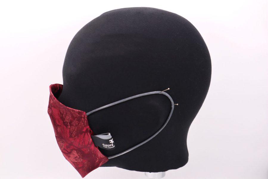 Cyclamen silk mask by Cleofe Finati