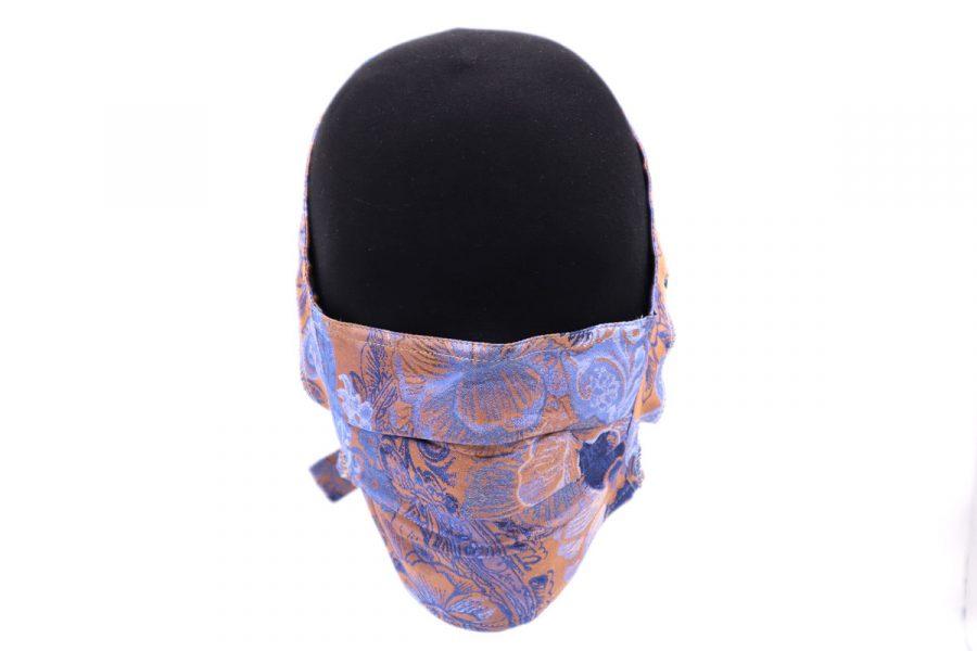 Laveder silk mask by Cleofe Finati